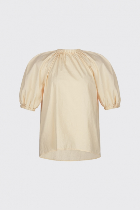[40% OFF] Lemon ruched neck volume blouse