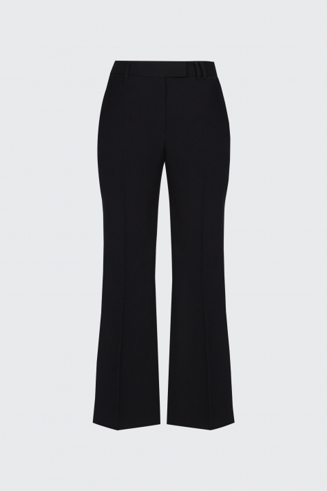 [40% OFF]Black cropped flow flare trousers